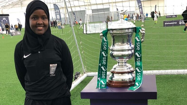 Foundation's referee becomes UK's first female Muslim official